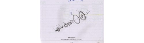 1000 1-17 Crankshaft and Flywheel Assembly
