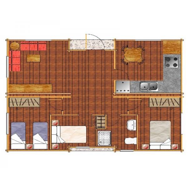 Casa de madera m vil barcia 8 0x6 0 48 m2 - Casas moviles madera ...