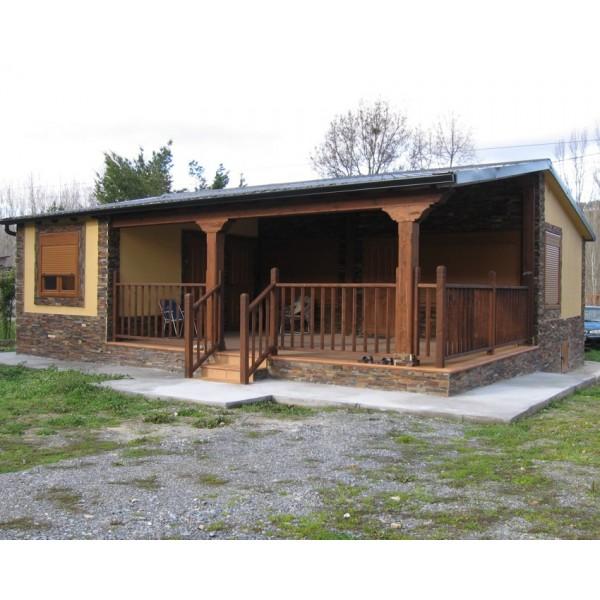 Casa prefabricada bierzo con porche 84 m2 - Casas americanas con porche ...