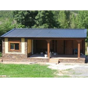 Casa prefabricada riego con porche 100 m2 - Casas americanas con porche ...