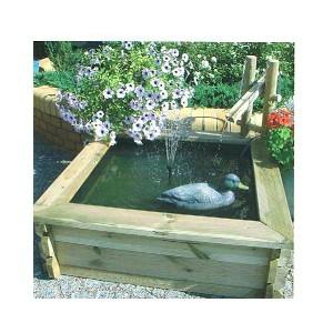 Fuente de madera estanque 100 cm for Estanque de plastico precio